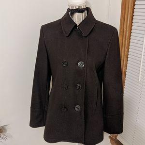 Dark brown pea jacket